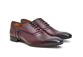 Calibre Italian Buckle Leather Oxford Burgundy Shoes