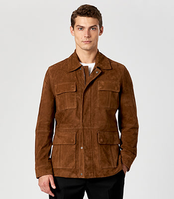 Calibre Men's Suede Field Jacket