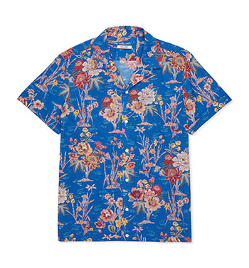 Calibre Men's Lake Print Short Sleeve Shirt