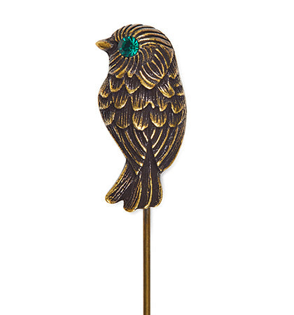 Calibre Mini Bird Lapel Pin Antique Gold