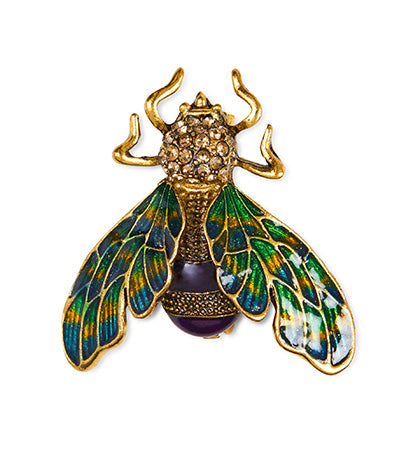 Calibre Enamel Beetle Badge