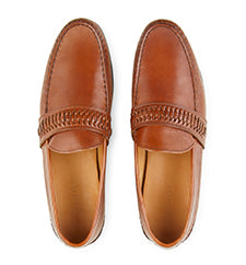 Calibre Interlaced Leather Loafers