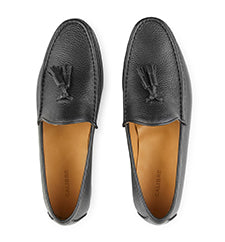 Calibre Black Leather Loafers