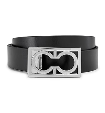 Calibre Men's Monogram Leather Belt