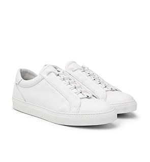 Calibre Men's Concealed Lace Up White Sneakers