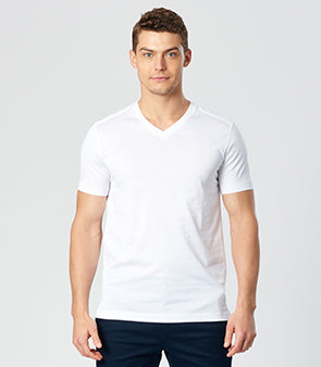 Calibre Men's V-Neck White T-Shirt