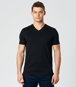 Calibre Men's V-Neck Black T-Shirt