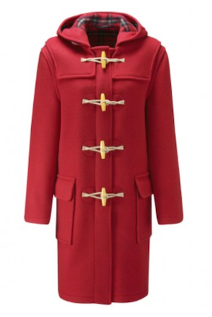 Long red wooden toggle duffle coat sale