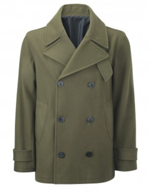 Olive green duffle coat sale