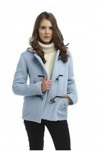 baby blue duffle coat