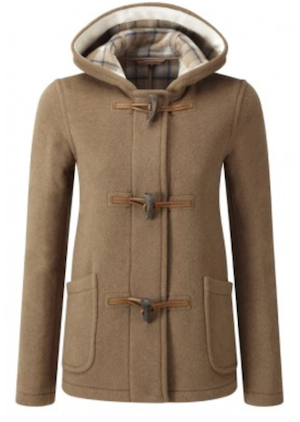 camel duffle coat short sale
