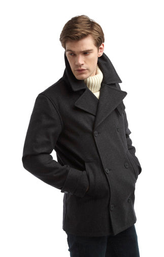 mens pea coat uk