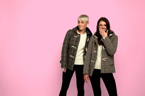 quilted tweed duffle coats