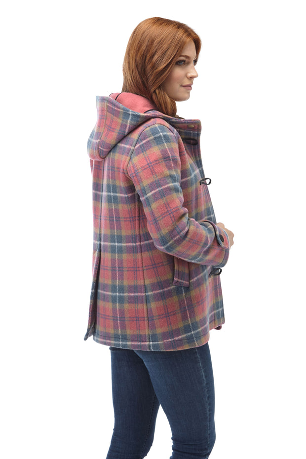 Women's Short Leyton Check Outer Duffle