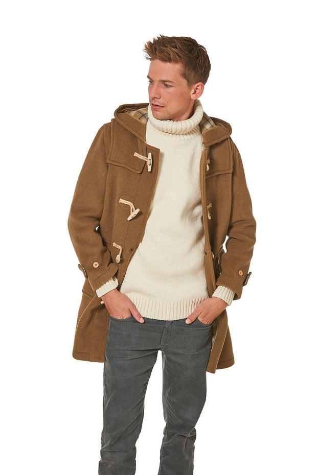 Men's Super Slim Gion Wooden Toggle Duffle Coat
