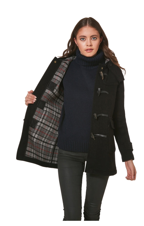 Women's Soho Elegance Duffle Coat with Horn Toggles