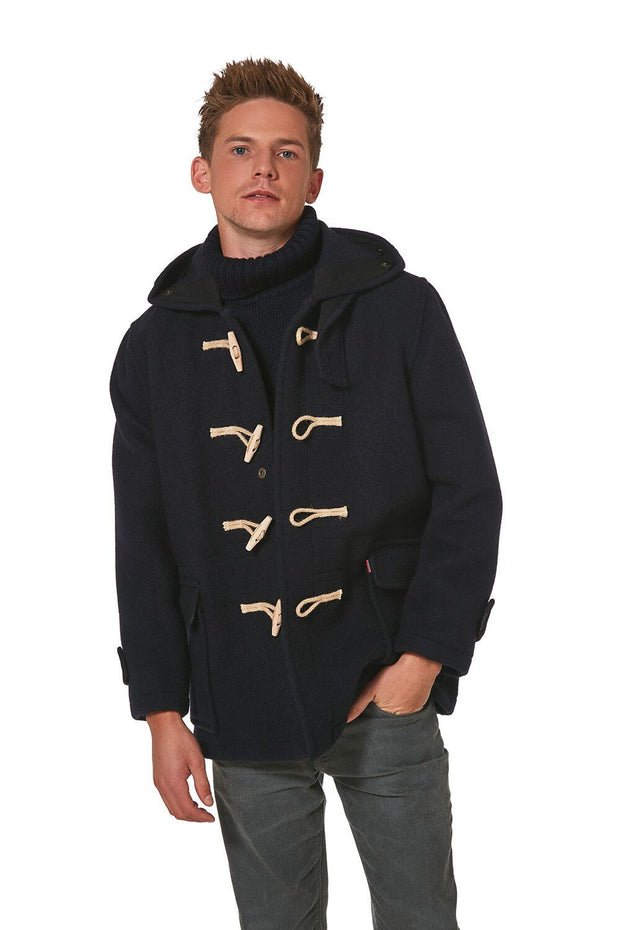 Men's Super Slim Gion Duffle Coat in Raw Wool