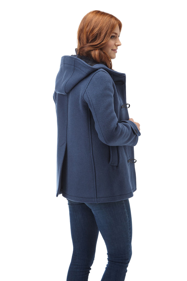 Women's Short Leyton Classic Duffle Coat with Horn Toggles