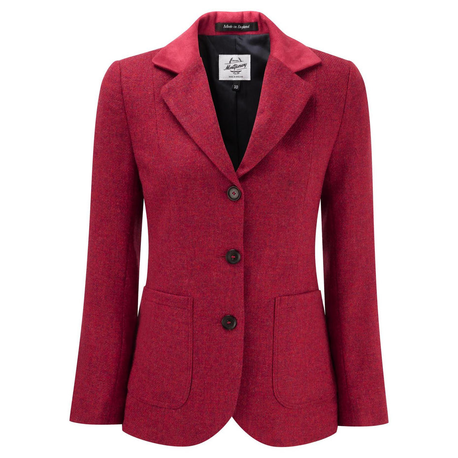 Women's Charlotte Tweed Blazer With Contrast Collar