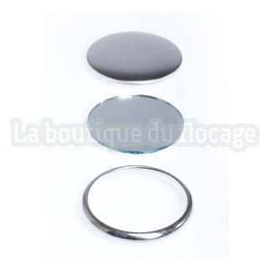 badge rond miroir