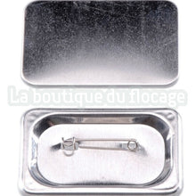 BADGES VIERGES RECTANGLES 37*58MM