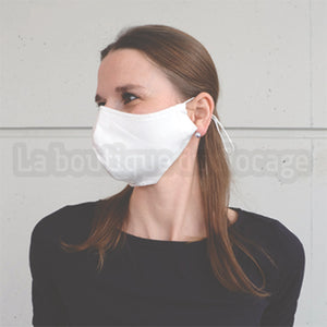 "10 Masques ""Grand public"": Blanc, Coton, Personnalisable"