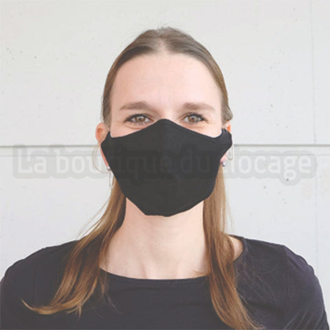 Masques grand public noir coton