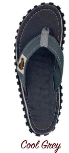 Gumbies CANVAS Flip Flops - Mens - Cool Grey