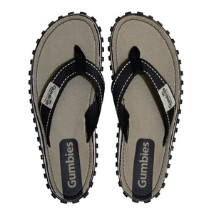 Gumbies CANVAS Flip Flops - Mens - Gravel