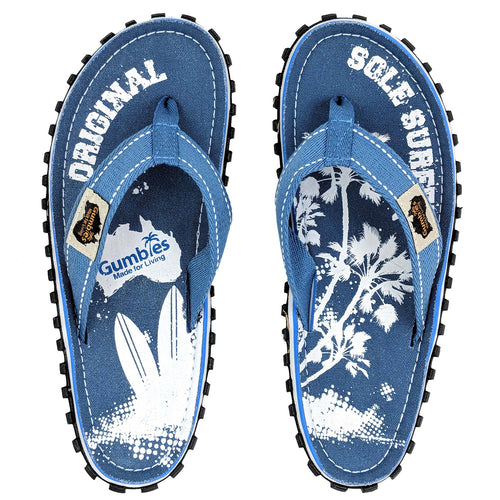 Gumbies CANVAS Flip Flops - Unisex- Palm Blue