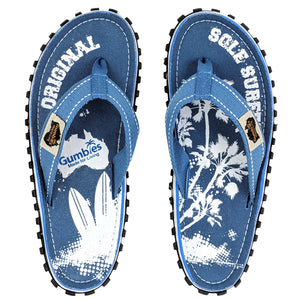 Islander Canvas Flip-Flops - Unisex- Palm Blue