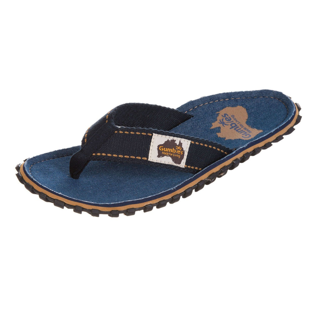 Gumbies CANVAS Flip Flops - Womens - Dark Denim