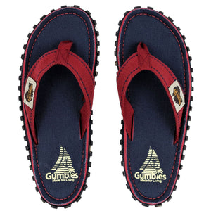 Gumbies CANVAS Flip Flops - Navy Coast
