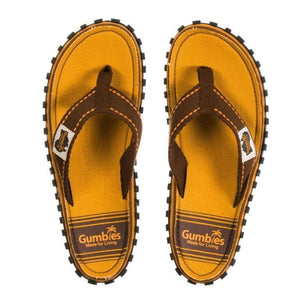 Gumbies CANVAS Flip Flops -Terracotta