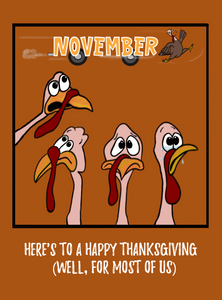 "Thanksgiving ""November, Yikes,"" Card"