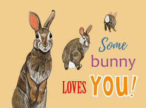"""Some Bunny Loves You Card"