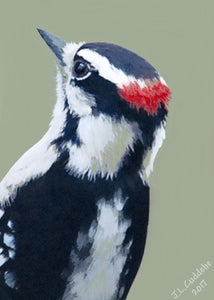 """Downy"" Woodpecker Print"