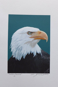 Eagle Painting on coldpress by Judy Link Cuddehe for Found Link Press.