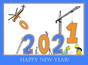"""Happy New Year 2021"" Card"