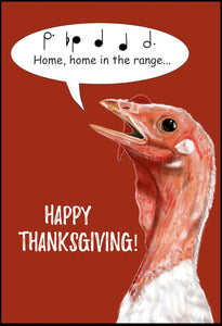 """Home in the Range"" Thanksgiving Card"