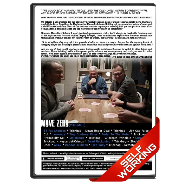 Move Zero Vol 2 by John Bannon - bigblindmedia.com DVD Back