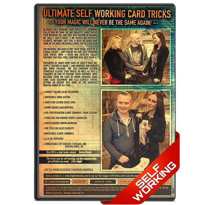Ultimate Self Working Card Tricks Vol 1 - bigblindmedia.com DVD Back