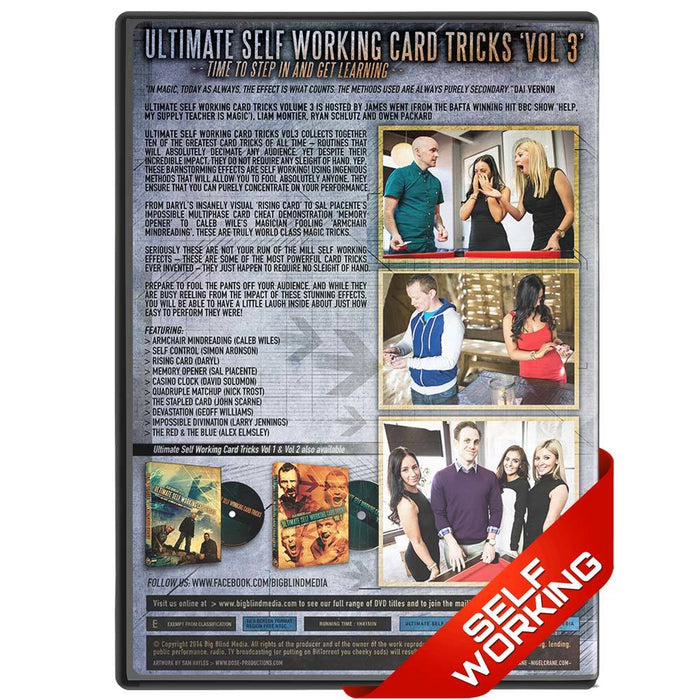 Ultimate Self Working Card Tricks Vol 3 - bigblindmedia.com DVD Back