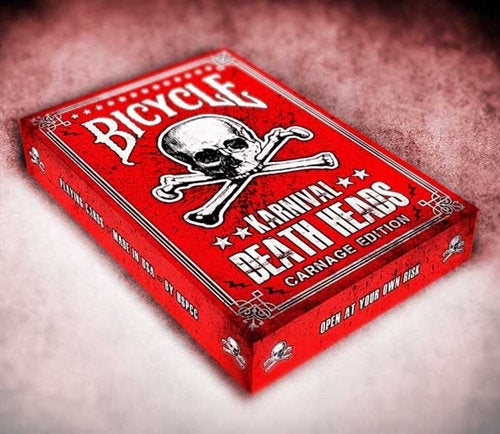 Karnival Death Heads Carnage Playing Cards - bigblindmedia.com 3d Case
