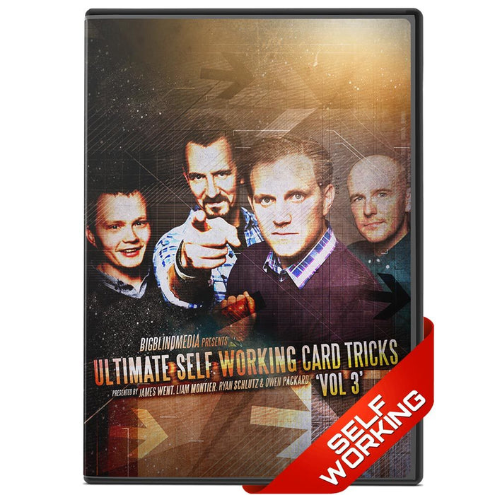 Ultimate Self Working Card Tricks Vol 3 - bigblindmedia.com DVD Front