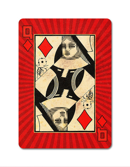 Karnival 1984 Playing Cards - bigblindmedia.com Queen Of Diamonds