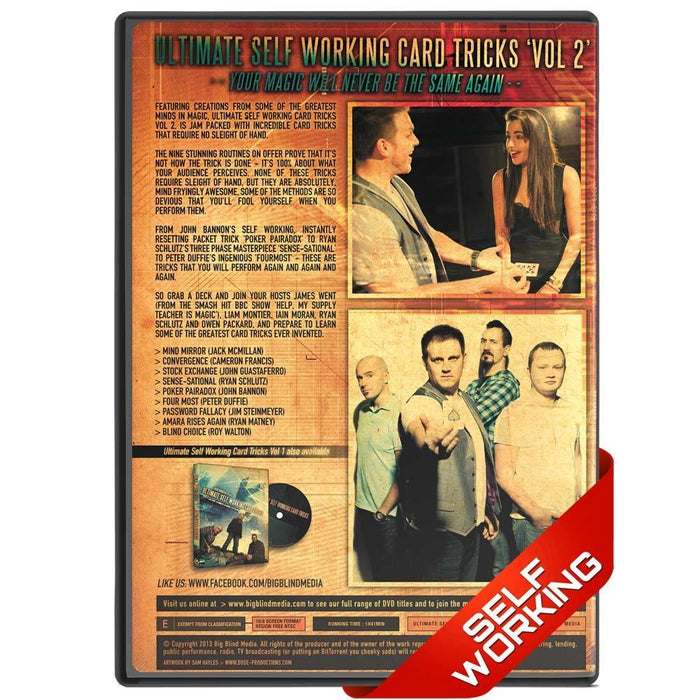 Ultimate Self Working Card Tricks Vol 2 - bigblindmedia.com DVD Back