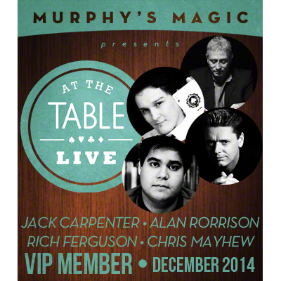 Live At The Table - December 2014 V.I.P Pass!