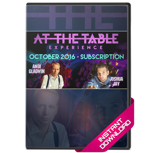 Live At The Table October 2016 - Andi Gladwin and Josh Jay - bigblindmedia.com