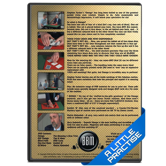 Alpha To Omega DVD (with gaff cards)
